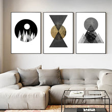 Load image into Gallery viewer, Abstract Geometric Wall Art Posters Nordic Style Fine Art Canvas Prints Pictures For Living Room Dining Room Bedroom Modern Home Decor