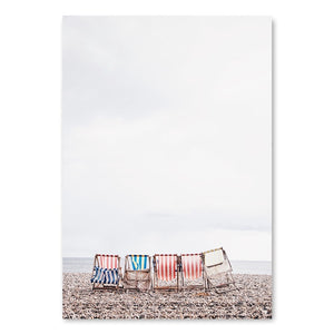 Beach Lover Coastal Seascape Wall Art Nordic Style Fine Art Canvas Prints Lifeguard Life Posters For Bedroom Living Room Beach House Home Decor