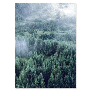 Nordic Woodland Mountain Glade Wilderness Wall Art Pictures Of Calm Fine Art Canvas Prints Modern Landscape Pictures For Home Office Wall Art Decor