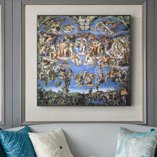 Load image into Gallery viewer, Sistine Chapel Ceiling Poster Famous Renaissance Painting by Michelangelo Posters Wall Art Canvas Prints for Modern Room Home Decor