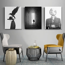 Load image into Gallery viewer, Abstract Nordic Black and White Poster Wall Art Fine Art Canvas Prints Minimalist Paintings For Offices Salons Boutique Modern Home Decor