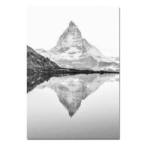 Blue Ridge Mountains Wall Art Matterhorn Minimalist Keep Life Simple Nordic Style Fine Art Canvas Prints For Modern Home Interior Decor