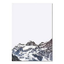 Load image into Gallery viewer, Blue Ridge Mountains Wall Art Matterhorn Minimalist Keep Life Simple Nordic Style Fine Art Canvas Prints For Modern Home Interior Decor