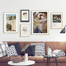 Load image into Gallery viewer, Delightful And Enchanting Vintage Classic Portraits Of Women Fine Art Canvas Prints Nordic Wall Decor Paintings For Country Home Interiors