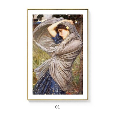 Delightful And Enchanting Vintage Classic Portraits Of Women Fine Art Canvas Prints Nordic Wall Decor Paintings For Country Home Interiors