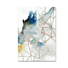 Load image into Gallery viewer, Modern Abstract Watercolor Paintings Fine Art Geometric Design Canvas Prints Nordic Design Posters For Office and Living Room Modern Apartment