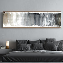Load image into Gallery viewer, Abstract Panoramic Wall Art Shades Of Gray Black White Fine Art Canvas Print Nordic Style Modern Art Picture for Living Room Sofa Home Decor