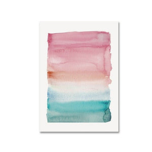 Abstract Nordic Watercolor Posters Pink And Blue Wall Art Canvas Prints Colorful Canvas Paintings For Kids Room Modern Home Bedroom Decor