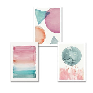 Colorful Warm Cosy Bedroom Wall Art Shades Of Pink Blue Jade Modern Nordic Canvas Prints Pastel Paintings For Bedrooms Hotel Interior Decor