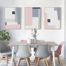 Load image into Gallery viewer, Abstract Squares Geometric Posters Pink Blue Grey Modern Nordic Fine Art Canvas Prints Paintings For Bedroom Living Room Modern Home Decor