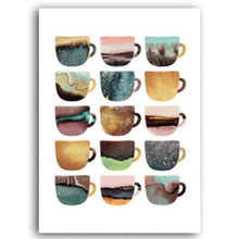 Load image into Gallery viewer, Delightful Colorful Coffee Mugs Kitchen Art Posters Coffee Quotations Fine Art Canvas Prints For Modern Kitchen Cafe Tearoom Modern Home Decor