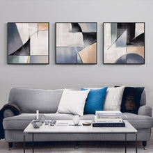 Load image into Gallery viewer, Bold Abstract Composition Geometric Shapes Contemporary Wall Art Posters Fine Art Canvas Prints Paintings For Modern Office Home Decor
