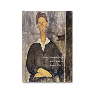 Vintage Vogue Collection Amedeo Modigliani Portrait Of A Young Man Fine Art Canvas Print Famous Art Posters For Modern Home Office Decor