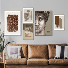 Load image into Gallery viewer, Vintage Vogue Collection Abstract Renaissance Michelangelo David Poster Fine Art Canvas Prints For Living Room Modern Home Decor