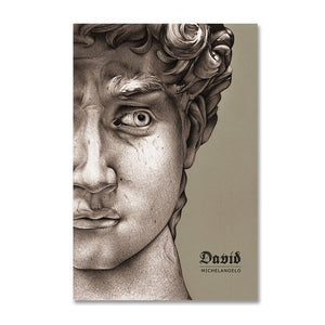 Vintage Vogue Collection Abstract Renaissance Michelangelo David Poster Fine Art Canvas Prints For Living Room Modern Home Decor