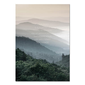 Explore. Dream. Discover. Northern Landscape Wilderness Nature Fine Art Canvas Prints Nordic Style Modern Home Interior Wall Decor