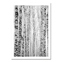 Load image into Gallery viewer, Scandinavian Forest Scenes Minimalist Black & White Gallery Wall Art Nordic Style Fine Art Canvas Prints For Living Room Modern Home Decor