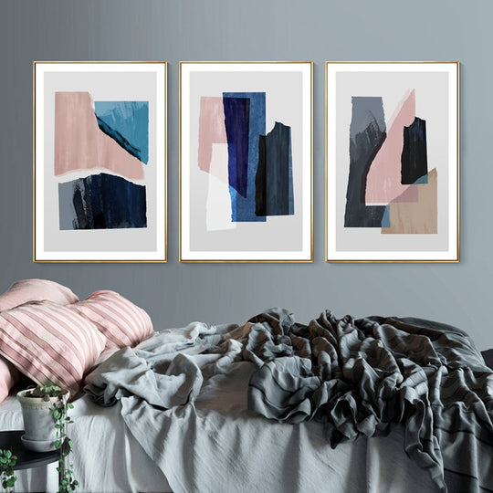 Modern Deep Pastel Hues Simple Abstract Nordic Minimalist Modern Wall Art Fine Art Canvas Prints Paintings For Bedroom Living Room Decor