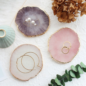 Elegant Nordic Pineapple Slices Colorful Resin Painted Coasters Jewelry Trays Necklace Earning Display Palettes Luxury Nordic Home Decor