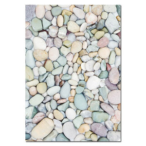 Ocean Beach Landscape Gallery Wall Art Sea Sunrise Colorful Pebbles Simple Love Minimalist Quote Fine Art Canvas Prints Nordic Home Decor