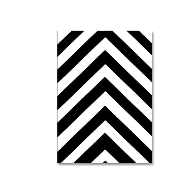Abstract Nordic Minimalist Black and White Art Posters Geometric Stripes Zebra Chevrons Inspiring Quotations Modern Wall Art Interior Decoration