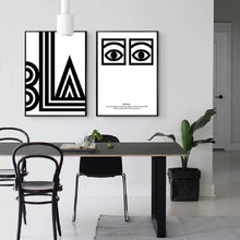 Load image into Gallery viewer, Modern Black and White Abstract Nordic Art Posters Fine Art Canvas Prints Paintings For Modern Office Wall Decor or Living Room Home Decoration