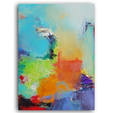 Load image into Gallery viewer, Modern Colorful Bold Textured Abstracts Wall Art Fine Art Canvas Prints Art For Modern Office Wall Decor Pictures For Living Room Decoration