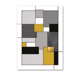 Vintage Abstract Art Geometric Design Wall Art Posters Fine Art Canvas Prints For Office Salon Decor Pictures For Modern Interiors Home Decor