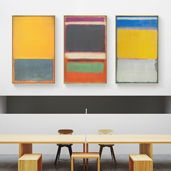 Colorful Rustic Vintage Abstract Oil Paintings Fine Art Canvas Prints Wall Art Classic Posters For Modern Office Interior Living Rome Home Decor