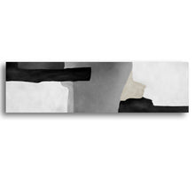 Load image into Gallery viewer, Shades of Grey Abstract Black and White Wall Art Ink Painting Fine Art Canvas Print Nordic Style Pictures For Modern Interior Home Decoration