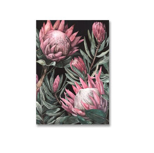 Modern Abstract Pink Sunflower Green Tropical Leaves Positive Affirmations Nordic Style Wall Art For Modern Home Interior Decorations