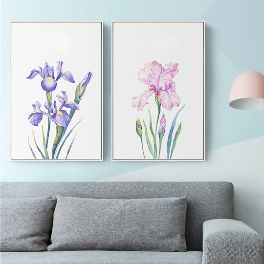 Nordic Wild Violet Inspirational Quotation Wall Art Why Fit In When You Can Stand Out Fine Art Canvas Prints For Bedroom Bathroom Modern Home Decor