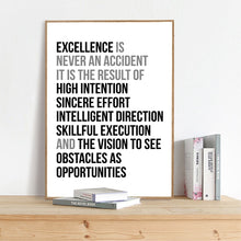 Load image into Gallery viewer, Definition Of Excellence Black and White Wall Art Poster Motivation Quotations Letter Art Fine Art Canvas Prints For Home Office Wall Decor