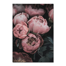 Load image into Gallery viewer, Gorgeous Pink Peonies Wall Art Fine Art Canvas Prints Modern Floral Pictures For Bedroom Living Room Minimalist Styling Glam Home Decor