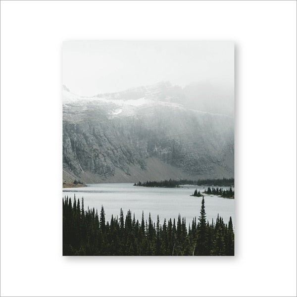 Metal Gift Wall Art Home Decor Peaceful Lake in Washington State Print Canvas Pacific Northwest Photography Nature Lustre