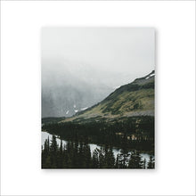 Load image into Gallery viewer, Misty Mountain Forest Lake Wilderness Landscape Wall Art Fine Art Canvas Prints Peaceful Nature Pictures For Office Or Home Living Room Wall Decor