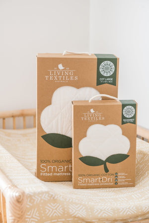 Load image into Gallery viewer, Organic Smart-Dri Mattress Protector - Cot Size Living Textiles