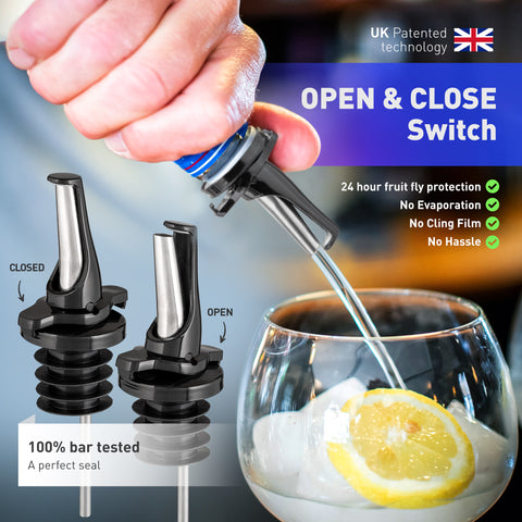 Poura Liquor Bottle Pourers (Black)