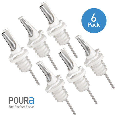 Poura Liquor Bottle Pourers (White)