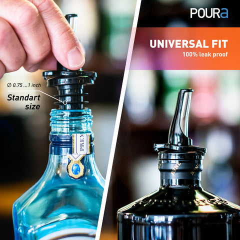 Image of Poura Liquor Bottle Pourers (Black)