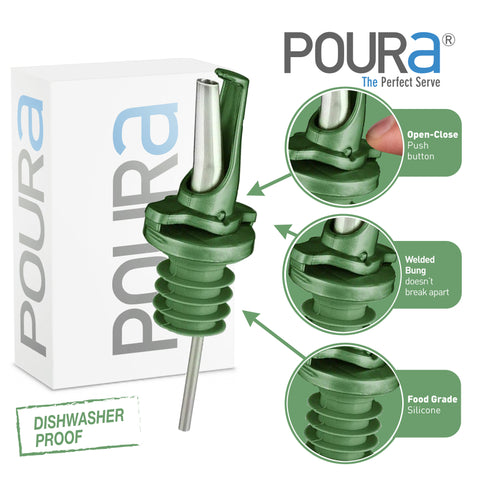 Image of Olive Oil Pourer (Green, 2 Pack)