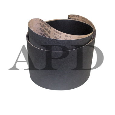 3-Pk VSM Silicon Carbide Performance Cloth Belt CK721X 25 Inch x 60 Inch 80 Grit X-Weight Backing