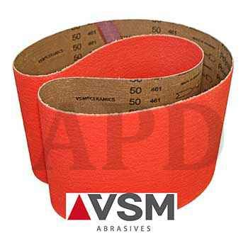 50-Pk VSM Ceramic High Performance Cloth Belt XK870X 1 In x 42 In 36 Grit X-Weight Backing