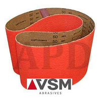 50-Pk VSM Ceramic High Performance Cloth Belt XK870X 1 In x 42 In 80 Grit X-Weight Backing