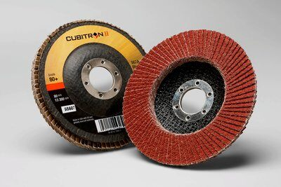 10-Pk 3M Cubitron II Flap Disc 969F, T27 Quick Change, 4-1/2 In X 5/8-11, 40+