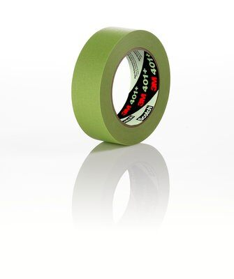 12-Pk 3M High Performance Green Masking Tape 401+, 24 mm x 55 m 6.7 mil