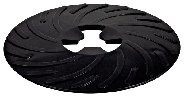 10-Pk 3M Disc Pad Face Plate Ribbed 81729, 9 In Hard Black
