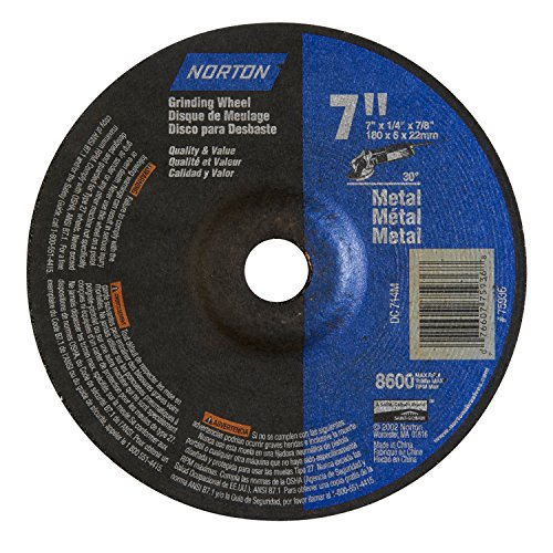 5-Pk Norton Metal Grinding Wheel T27 7 In X 1/4 In X 5/8-11 In