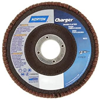 Norton 7 X 5/8-11 Charger Type 29 60 Grit /R822/Flap Discs And Merit Powerflex Flap Discs #66261119286