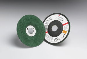40-Pk 3M Green Corps Flexible Grinding Wheel, T27, 4-1/2 In X 1/8 In X 5/8-11 Internal, 36